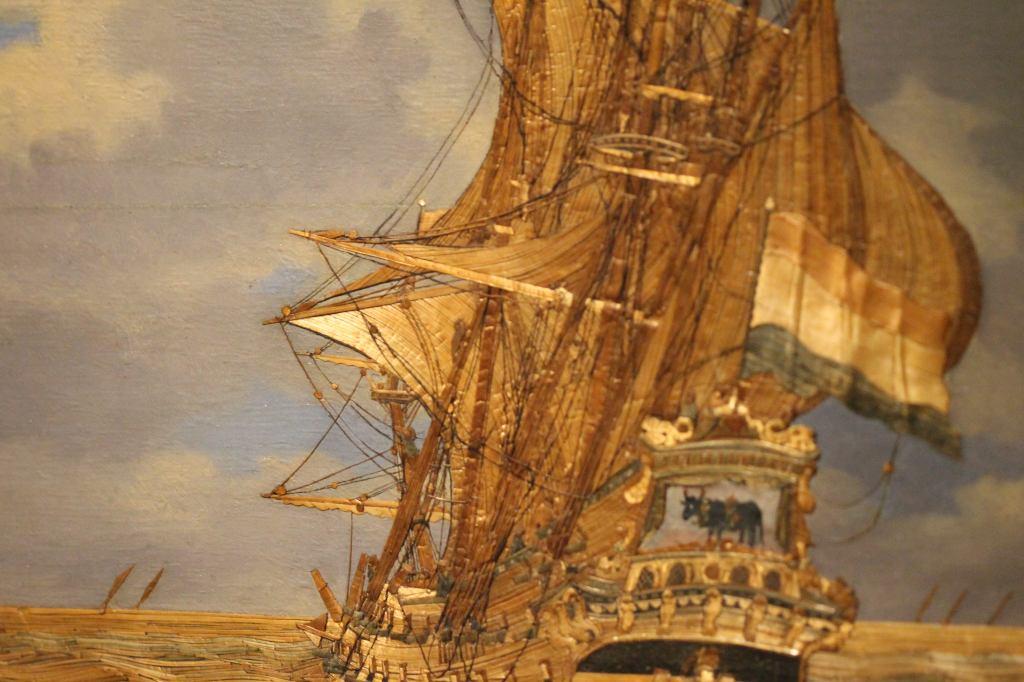 Straw Naval Ship