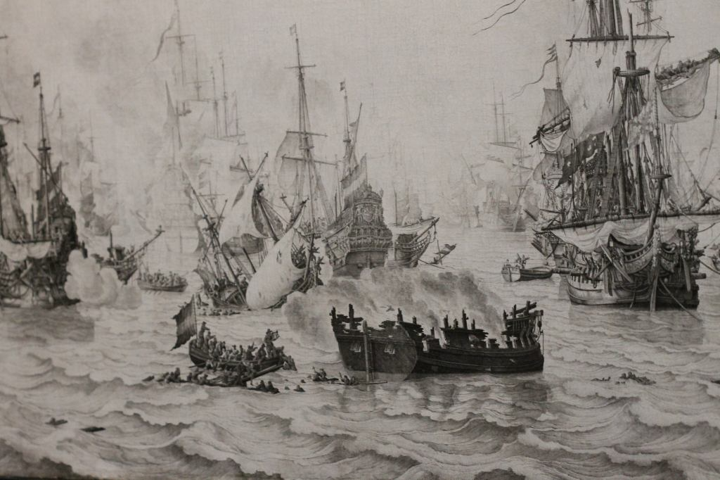 The Battle of the Downs, Willem van de Velde (I), 1659 Naval Battle - Pencil Painting