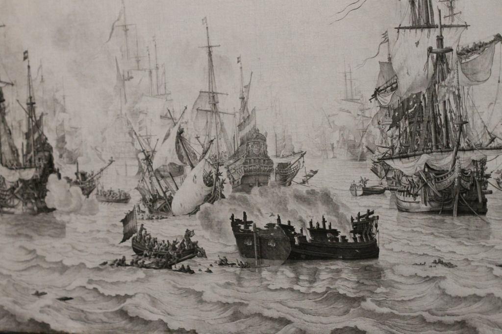 The Battle of the Downs, Willem van de Velde (I), 1659 Naval Battle - Pencil Painting