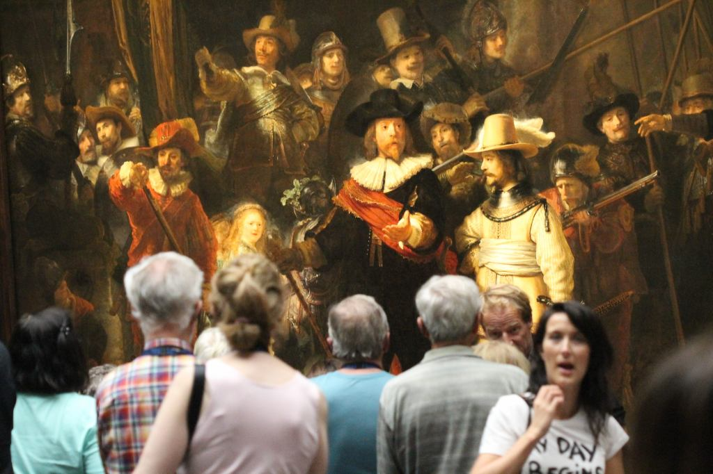 Rembrandt - Militia Company of District II under the Command of Captain Frans Banninck Cocq with a crowd
