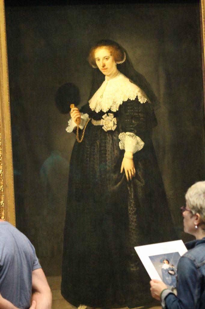 Oopjen Coppit  Rembrandt Full Length Portrait