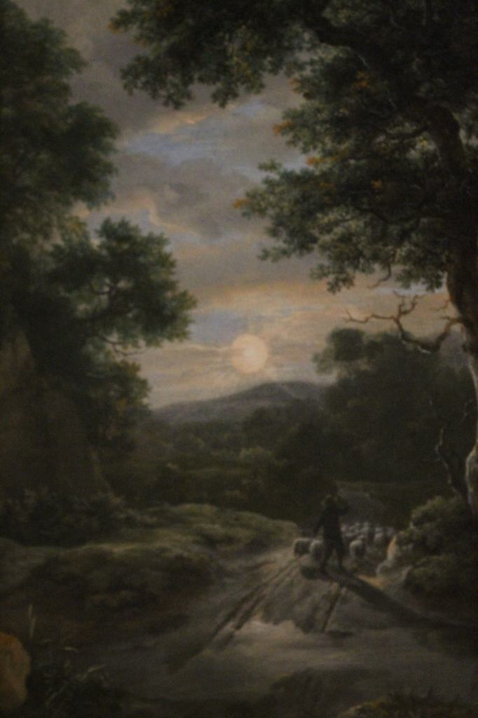 Jacob van Ruisdael (1628 - 1682) Sunrise in the woods - detail