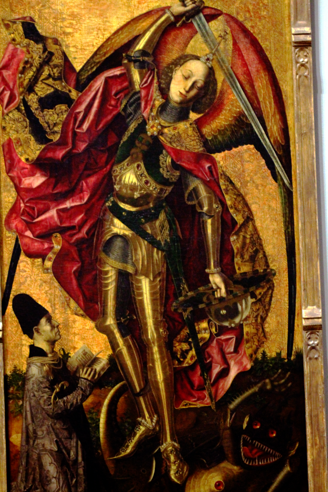Saint Michael Triumphs over the Devil Bartolomé Bermejo