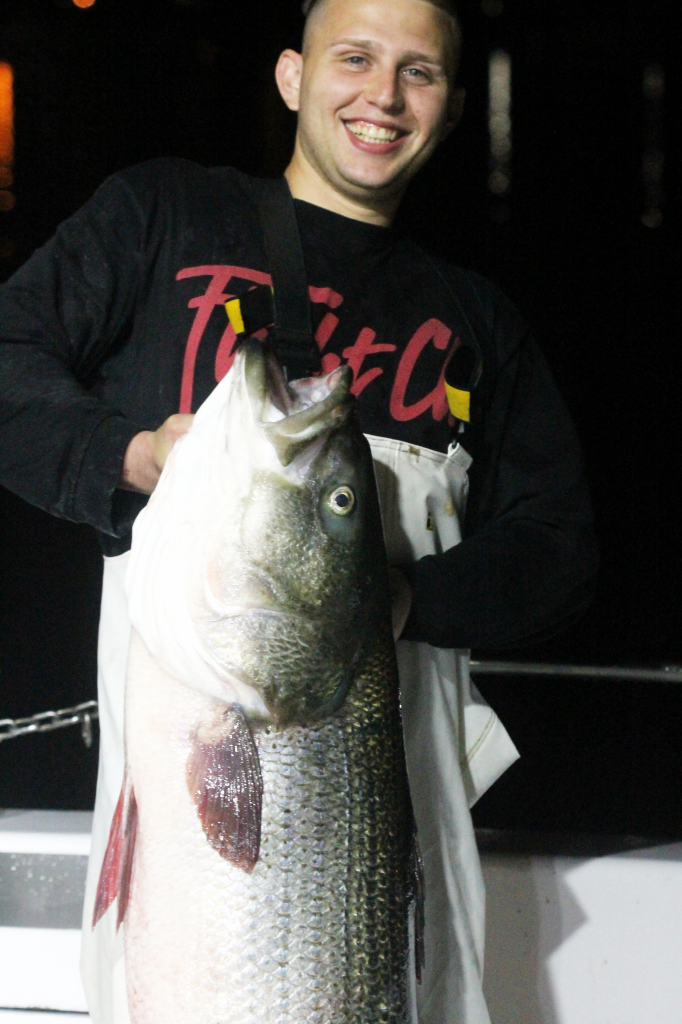 ALEX and his 52 pound Striped Bass
