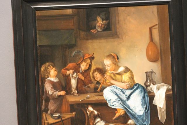 Children Teaching a Cat to Dance, Known as 'The Dancing Lesson', Jan Havicksz. Steen, 1660 - 1679
