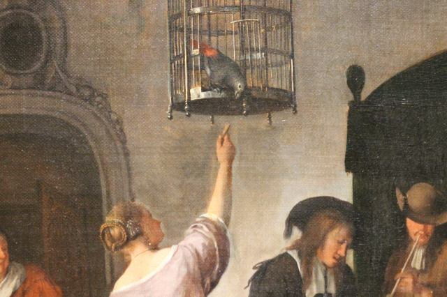 A Parrots Cage Jan Havicksz. Steen, 1660 - 1679