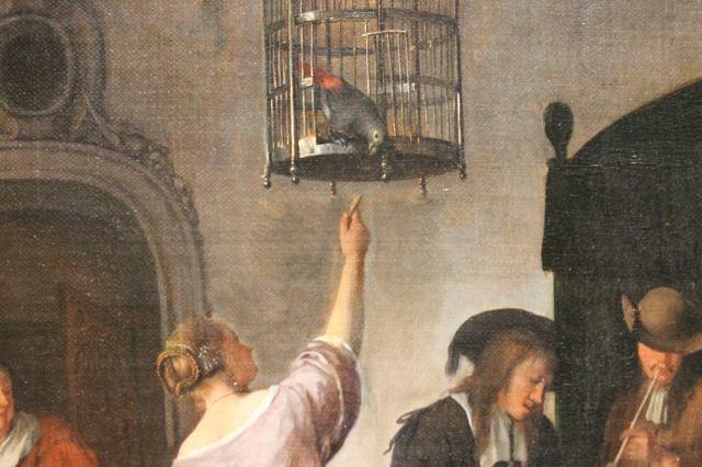 A Parrots Cage Jan Havicksz. Steen, 1660 - 1679