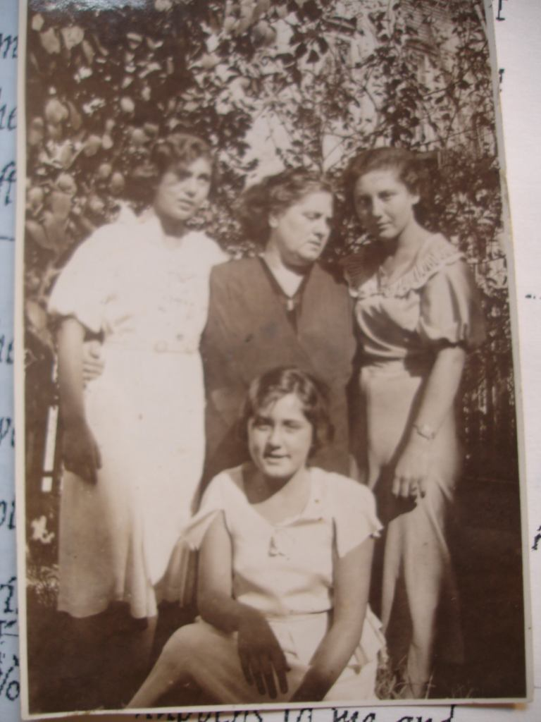 Rose and her daughters, Esther, Hilda and Ruth Barcan