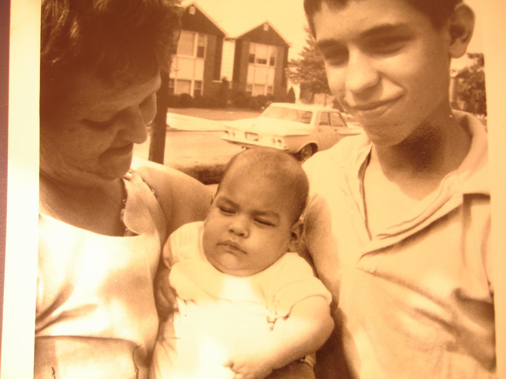 Hiram, Grandmother Toby and Ruben (Me - the baby)