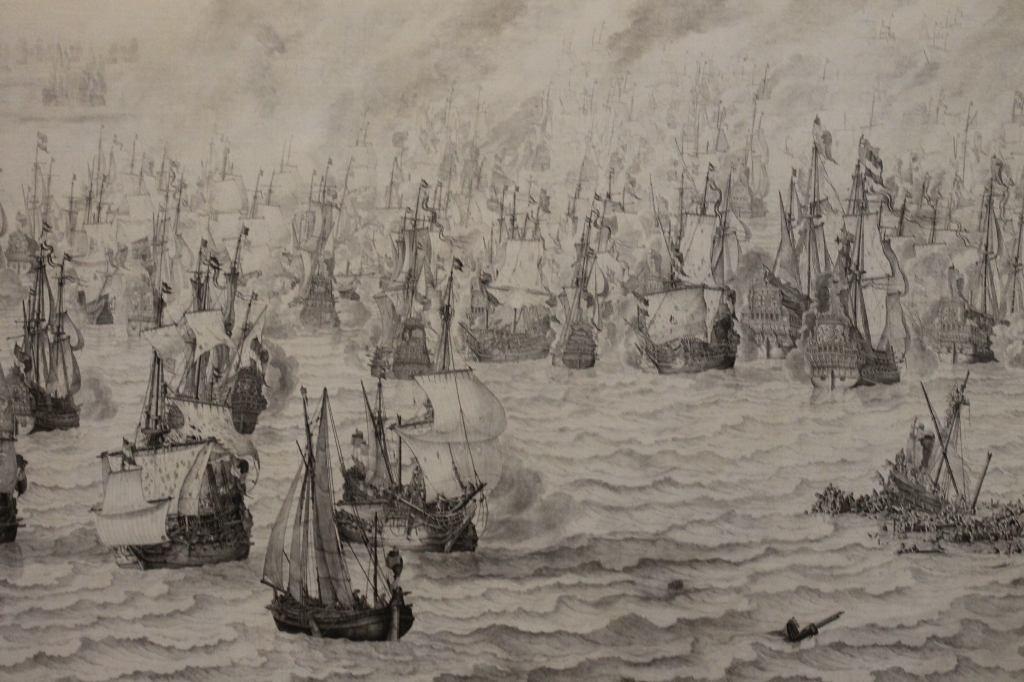 Naval Battle - Pencil Painting